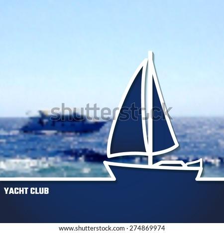 Vector illustration yacht club outline design stock vector 274869974 vector illustration of yacht club outline for design website background banner sea toneelgroepblik Image collections