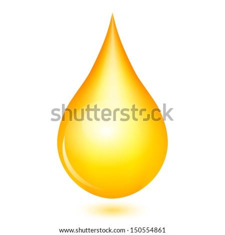 Vector illustration of yellow shiny drop - stock vector