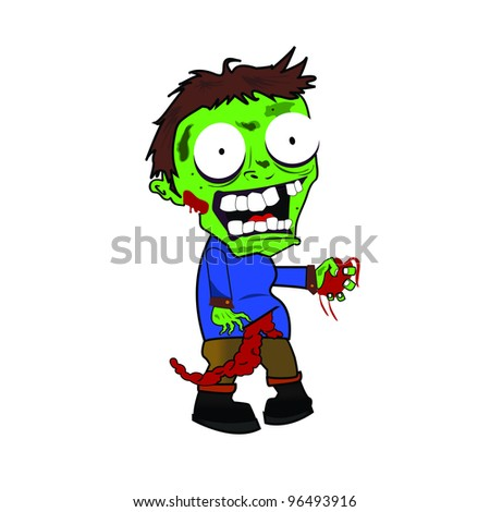 vector illustration of zombie - stock vector