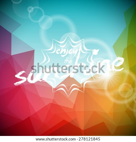 Vector illustration on a summer holiday theme on abstract color background. Eps 10 design. - stock vector