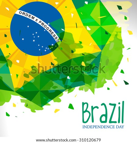 Vector Illustration on September 7,  Independence of Brazil,[ Dia 7 de Setembro, Independencia do Brazil ] - stock vector