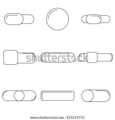Vector illustration on the theme button - stock vector