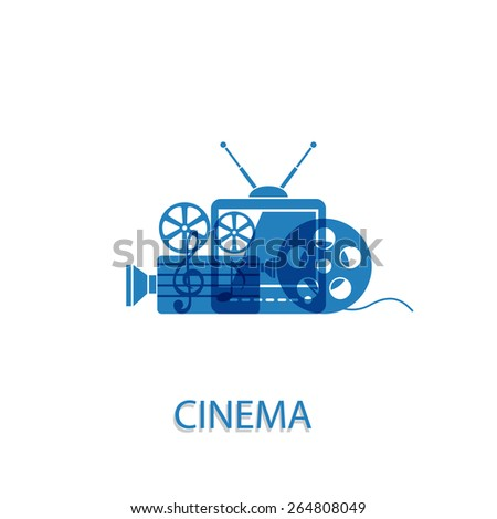 Vector illustration on the theme of the movie - stock vector