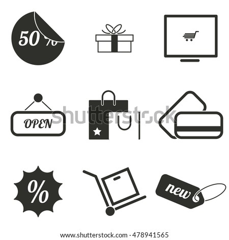 Vector illustration on the theme shop