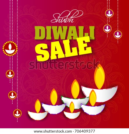 Vector illustration greeting card diwali festival stock vector vector illustration or greeting card of diwali festival with stylish beautiful oil lamp and diwali elements m4hsunfo