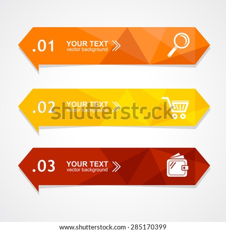 Vector illustration paper triangle option banner can be used for web design, brochures - stock vector