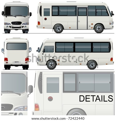 Vector illustration passenger bus