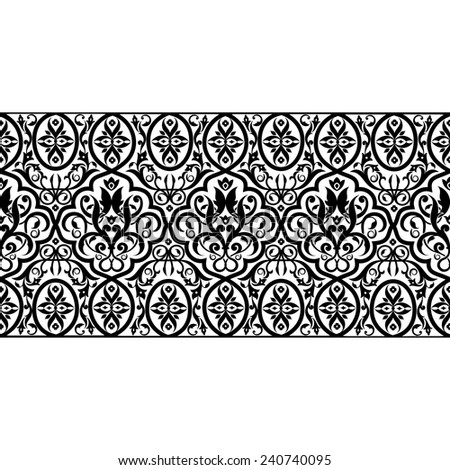Vector illustration patterned seamless texture - stock vector