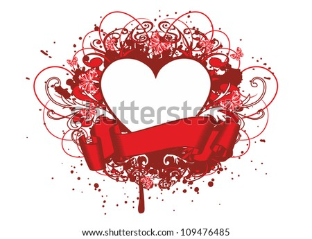 Vector illustration patterns and heart - stock vector