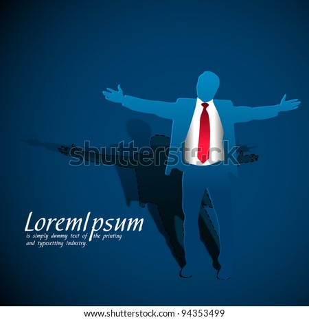 vector illustration peel off success business man, conceptual business. - stock vector