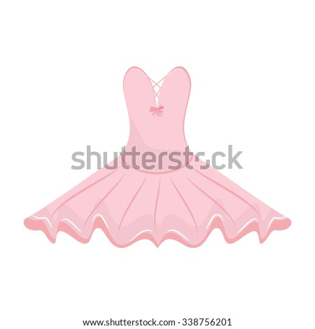Vector illustration pink ballet dress. Ballet tutu for ballerina.  - stock vector