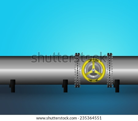 Vector illustration - pipeline. EPS10. - stock vector