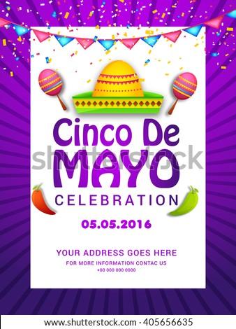 Poster Party Flyer Cinco De Mayo Stock Vector 415453399 ...