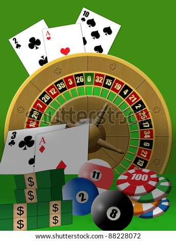 Vector illustration poster with casino theme
