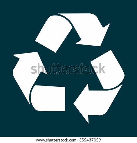 Vector Illustration- Recycle icon - stock vector