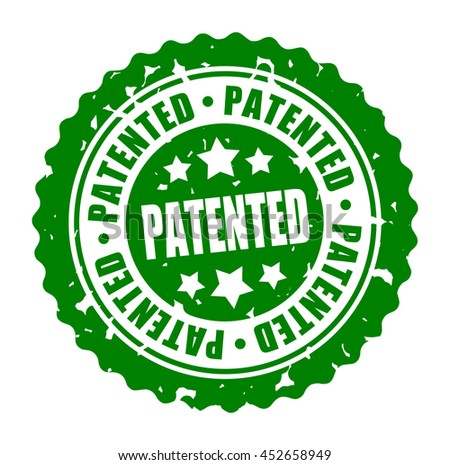 Vector illustration round stamp PATENTED