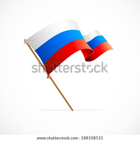 Vector illustration Russia flag on white background - stock vector
