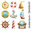 Vector illustration - Sailing icon set - stock photo