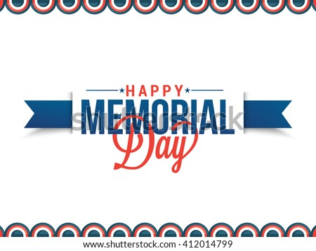 Vector illustration,sale banner or poster of Happy memorial day. - stock vector