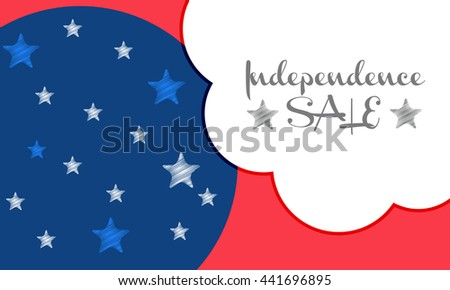 Vector illustration,sale banner, or poster of 4th of july independence day celebration background.