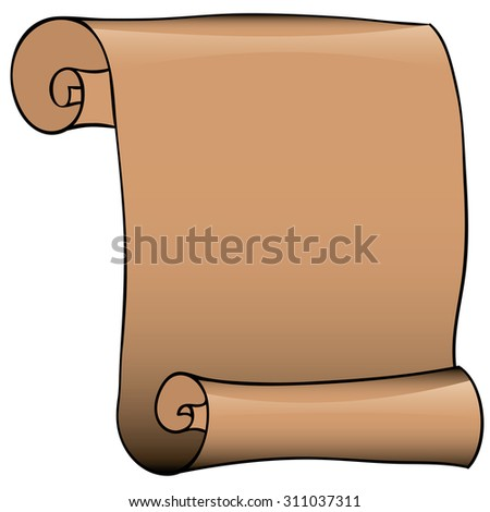 Vector illustration. Scroll on the white background - stock vector