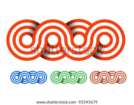 Vector illustration. Seamless circle pattern design. - stock vector