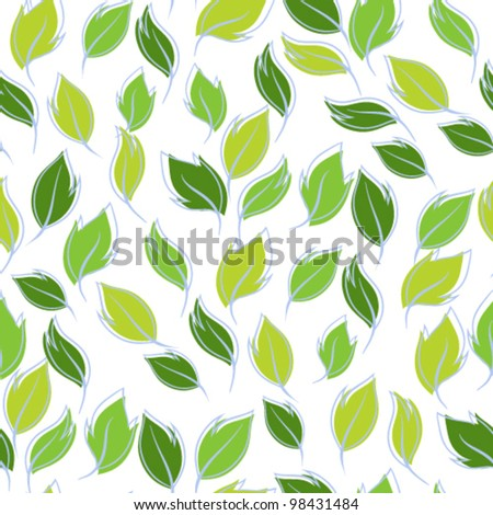 Vector illustration. Seamless pattern of leaves.