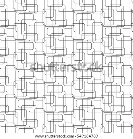 Vector illustration seamless pattern the intersecting rectangles with rounded edges