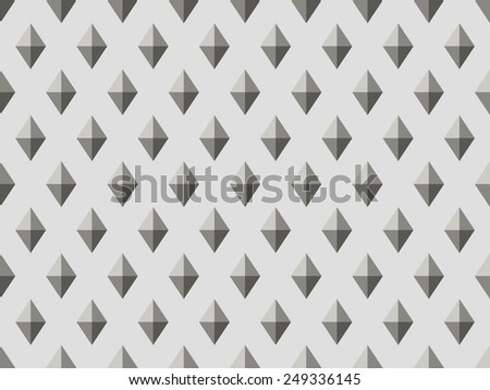 Vector illustration seamless pattern with black and white rhombus. Geometric texture. - stock vector