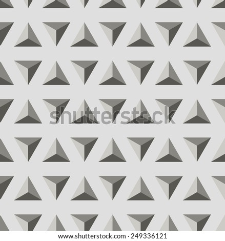 Vector illustration seamless pattern with black and white triangle. Geometric texture. - stock vector