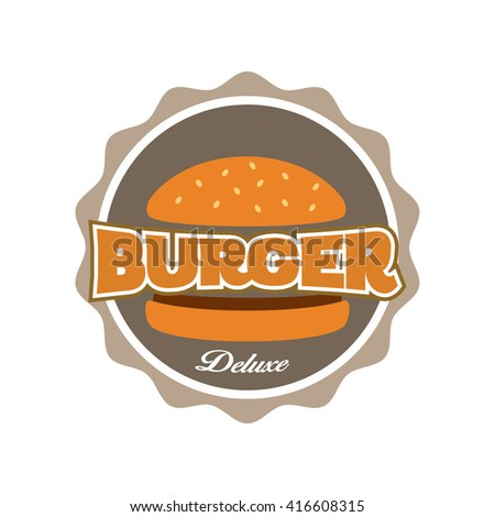 vector illustration Set of burger shop icon logo design. For branding, sticker, decoration product, insignia, tags. Vector illustration