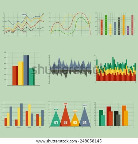 Vector illustration set of infographics - stock vector