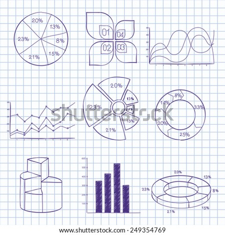 Vector illustration set of infographics - stock vector