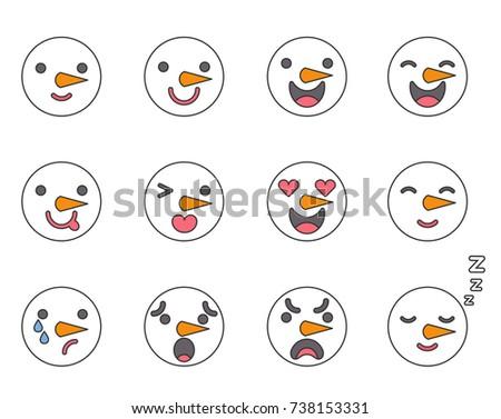 expressions Snowman facial