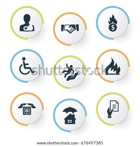 stock vector vector illustration set of simple fuse icons elements slide down handicapped contract synonyms 676497385 fuse 스톡 벡터, 이미지 및 벡터 아트 shutterstock fuse box synonym at virtualis.co