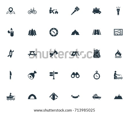 Vector Illustration Set Of Simple Icons. Elements Position Tent; Hatchet And Other  sc 1 st  Shutterstock & Synonym Stock Images Royalty-Free Images u0026 Vectors | Shutterstock