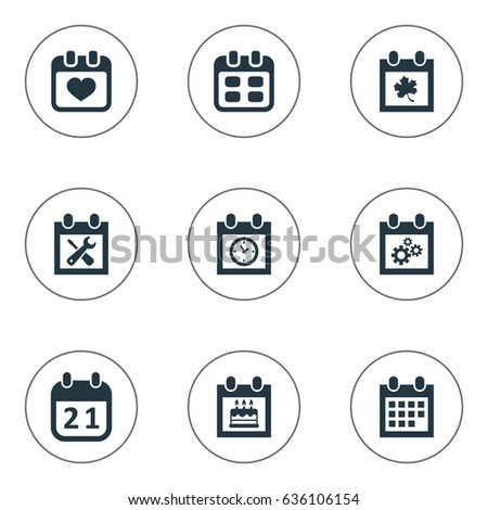 vector illustration set simple plan icons stock vector royalty free