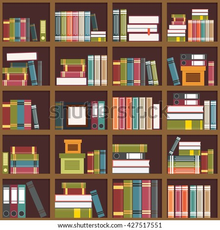 Books Shelves vector illustration shelves colorful books stock vector 427517551