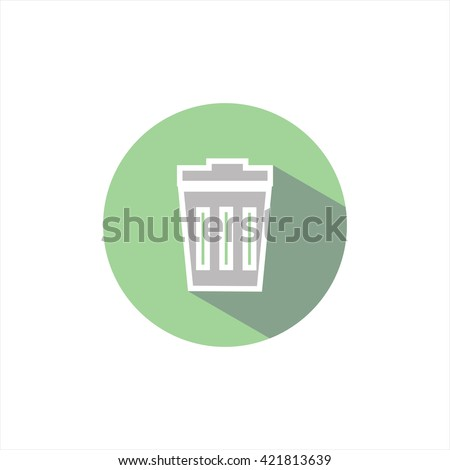 vector illustration shopping cart icon. garbage. remove