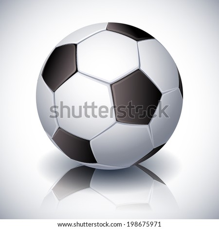Vector illustration - soccer ball on white background - stock vector