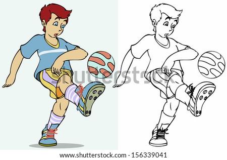 Vector illustration, soccer player, cartoon concept. - stock vector