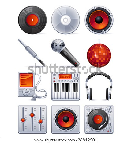 Vector illustration - Sound icon set - stock vector