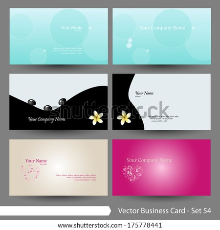 Vector illustration: Spa, beauty, health & wellness theme graphic design element for cards & background (Part 54) - stock vector