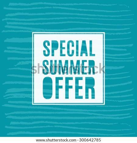 Vector illustration special summer offer grunge label. - stock vector