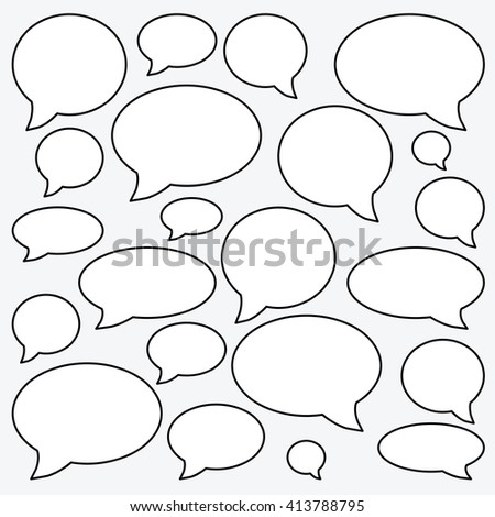 vector illustration / speech boxes / chat or forum comments  - stock vector