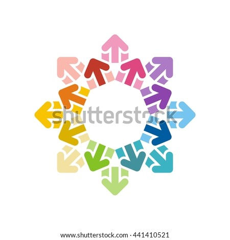 Vector illustration stock of flat arrow icons colorful