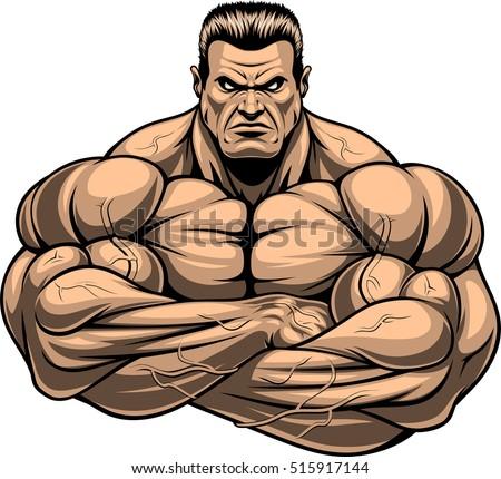 vector illustration strict coach bodybuilding fitness