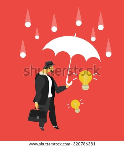 vector illustration stylized businessman character in different situations Business