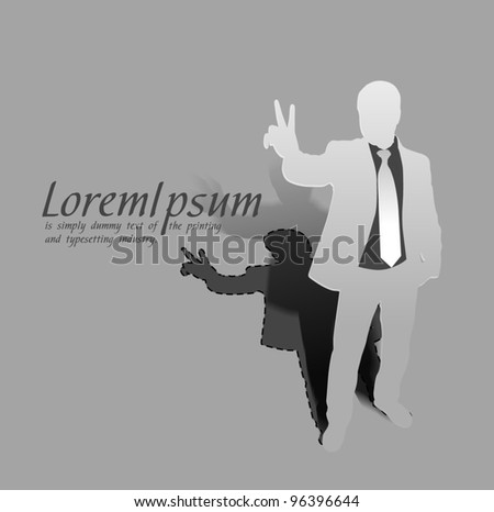 vector illustration success business man, conceptual business. - stock vector