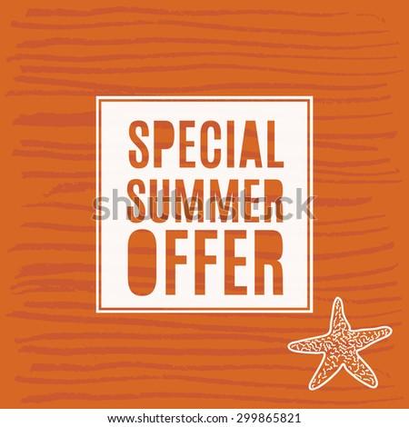Vector illustration summer sale grunge label. - stock vector